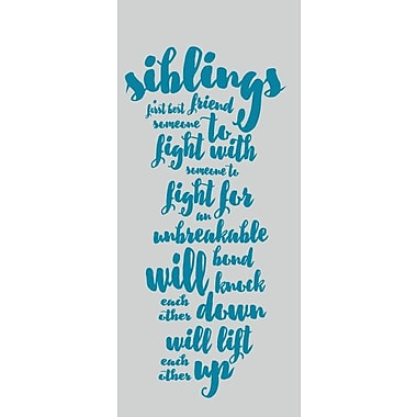 SweetumsWallDecals Siblings Wall Decal; Teal