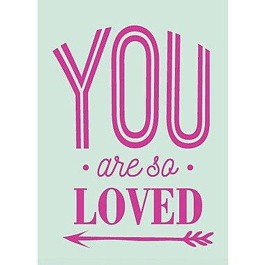 SweetumsWallDecals You Are So Loved Wall Decal; Hot Pink