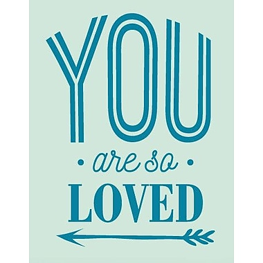 SweetumsWallDecals You Are So Loved Wall Decal; Teal