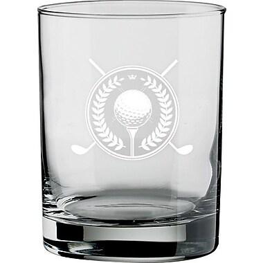 Kraftware Kasualware Designs Golf 14 Oz. Double Old-Fashioned Glass (Set of 4)
