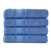 Berrnour Home Solomon Luxury Bath Towel (Set of 4); Blue