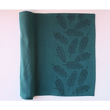 Sustainable Threads Leafy Table Runner; 60'' W x 12'' L