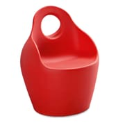 Domitalia Baba Patio Dining Chair; Red