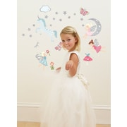 Fun To See 22 Piece Glittering Fairies Wall Decal Set