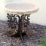 Stone Age Creations Tree Silhouette Birdbath; Gold