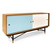 Kardiel Color Theory Series Credenza; Natural/Blue