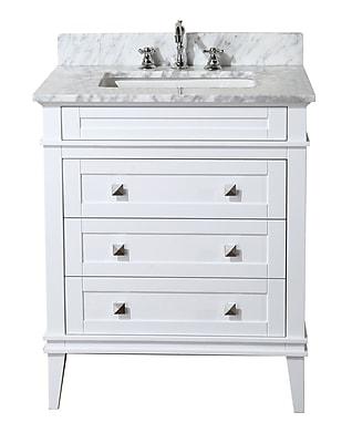 KBC Eleanor 30'' Single Bathroom Vanity Set; White