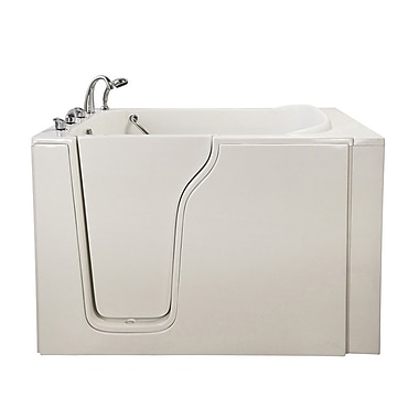 Ella Walk In Bath Bariatric 33 54.25'' x 40'' Whirlpool Walk In Tub; Left Hand