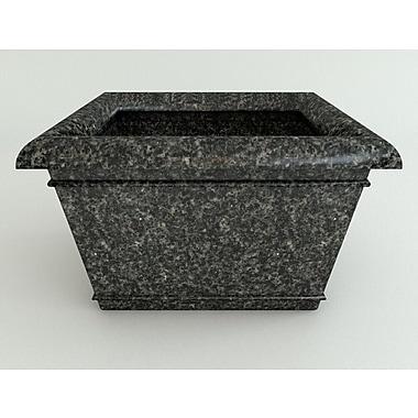 TerraCastProducts Catalina Resin Pot Planter; Charcoal Granite