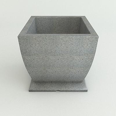 TerraCastProducts Resin Pot Planter; Ash Granite