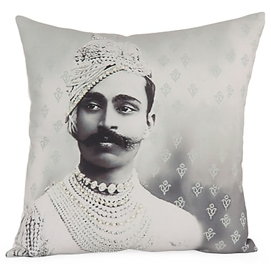 Foreign Affairs Home Decor Royal Photographic Embroidered Throw Pillow