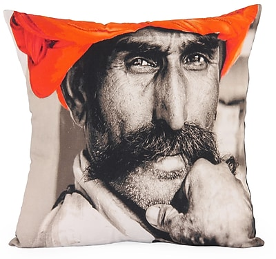 Foreign Affairs Home Decor Surata Photographic Embroidered Throw Pillow