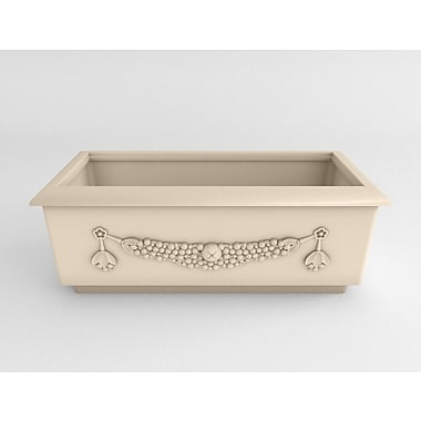 TerraCastProducts Roma Resin Planter Box; Victorian Lace