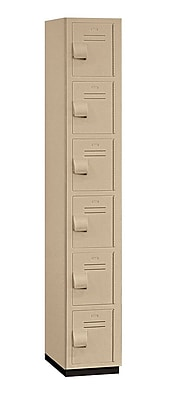 Salsbury Industries 6 Tier 1 Wide Employee Locker; Tan