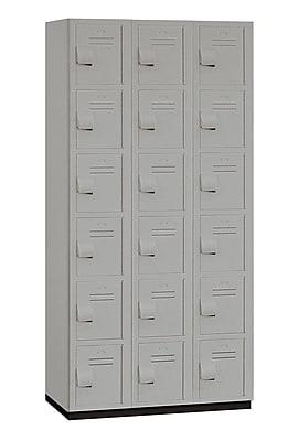Salsbury Industries 6 Tier 3 Wide Employee Locker; Gray