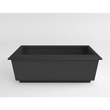 TerraCastProducts Roma Resin Planter Box; Charcoal