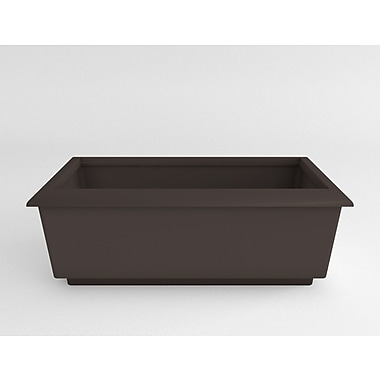 TerraCastProducts Roma Resin Planter Box; Brown