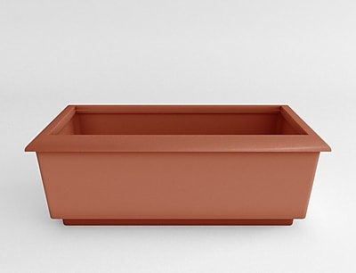 TerraCastProducts Roma Resin Planter Box; Terracotta