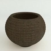 TerraCastProducts Grooved Resin Pot Planter; Dark Monzonite