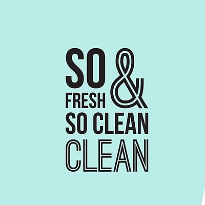 SweetumsWallDecals So Fresh and So Clean Bathroom Wall Decal; Black
