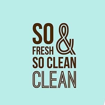 SweetumsWallDecals So Fresh and So Clean Bathroom Wall Decal; Brown