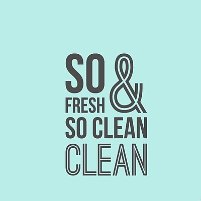 SweetumsWallDecals So Fresh and So Clean Bathroom Wall Decal; Dark Gray