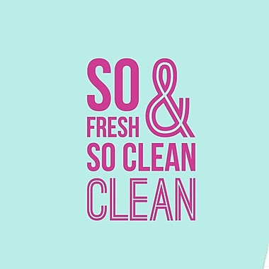 SweetumsWallDecals So Fresh and So Clean Bathroom Wall Decal; Hot Pink