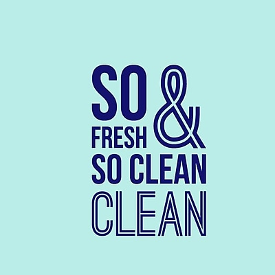 SweetumsWallDecals So Fresh and So Clean Bathroom Wall Decal; Navy