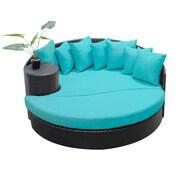 TK Classics Newport Circular Sun Daybed w/ Cushions; Aruba