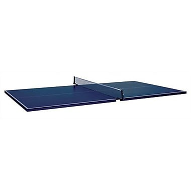 Butterfly Table Tennis Conversion Top for Pool Tables w/ Two Player Set; Blue