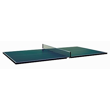 Butterfly Table Tennis Conversion Top for Pool Tables w/ Two Player Set; Green