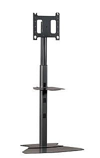 Chief Adjustable Medium Tilt Floor Stand Mount for 30'' - 50'' Plasma/LCD; Silver