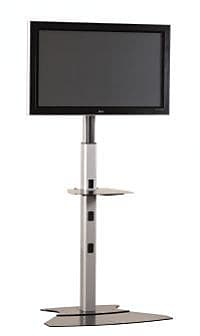 Chief Medium Tilt Universal Floor Stand Mount for up to 50'' Plasma/LCD; Silver