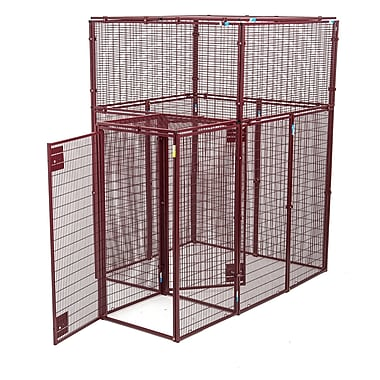 Animal House Ultra Heavy Duty Flat Covered Animal Cage w/ Double Door Security Entrance