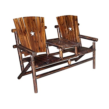 LeighCountry Char-Log Patio Dining Chair