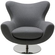 Nuevo Conner Lounge Chair; Light Grey