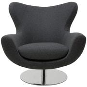 Nuevo Conner Lounge Chair; Dark Grey