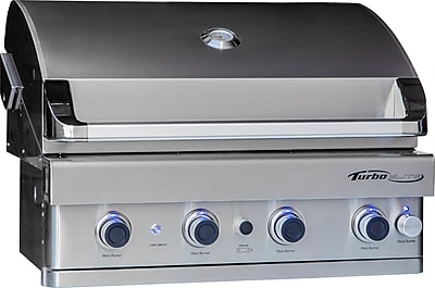 Barbeques Galore Turbo Elite 4-Burner Built-In Gas Grill; Propane WYF078278349697