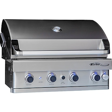 Barbeques Galore Turbo Elite 4-Burner Built-In Gas Grill; Propane
