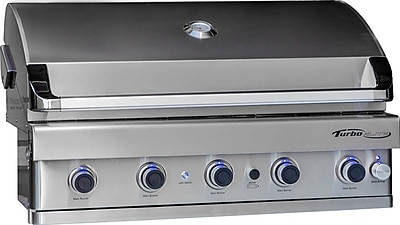 Barbeques Galore Turbo Elite 6-Burner Built-In Gas Grill w/ Rotisserie; Propane WYF078278349701