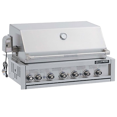 Barbeques Galore Grand Turbo 7-Burner Built-In Convertible Gas Grill w/ Rotisserie; Propane WYF078278349709