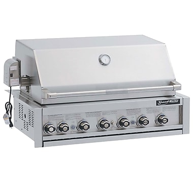 Barbeques Galore Grand Turbo 7-Burner Built-In Convertible Gas Grill; Natural Gas