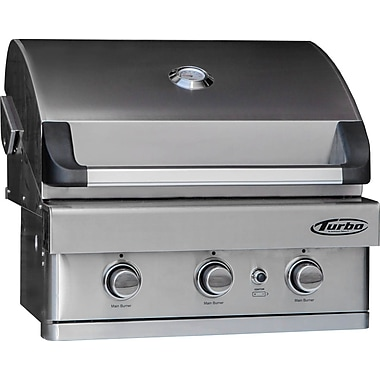 Barbeques Galore Turbo 3-burner Built-in Gas Grill; Propane