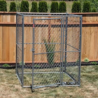 Jewett Cameron Lucky Dog Steel Modular Chain Link Yard Kennel