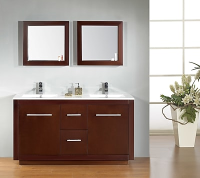 Ove Decors Cubix 60'' Double Vanity Set