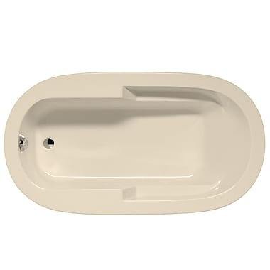 Malibu Home Inc. Marco 66'' x 42'' Air Bathtub; Biscuit