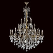 Worldwide Lighting Windsor 45-Light Crystal Chandelier; Clear