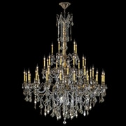 Worldwide Lighting Windsor 45-Light Crystal Chandelier; Golden Teak