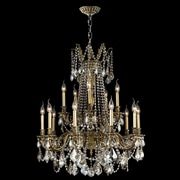 Worldwide Lighting Windsor 15-Light Crystal Chandelier; Antique Bronze