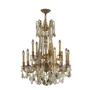 Worldwide Lighting Windsor 15-Light Crystal Chandelier; French Gold
